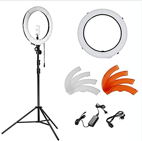 makeup light stand. neewer 14 inches 36w led 5500k dimmable ring light kit: smd light, 45 makeup stand