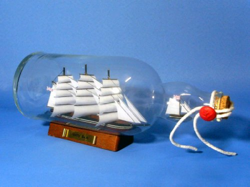 "Cutty Sark Model Ship in Glass Bottle 11"" - Boat In A ..."