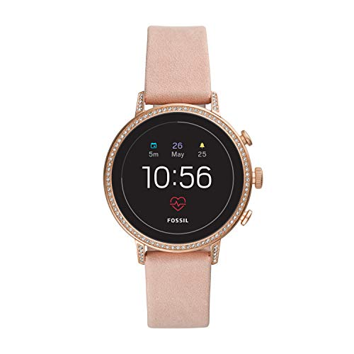 Fossil Gen 4(40mm, Rosegold) Ventura Leather Touchscreen Women's Smartwatch with Heart Rate, GPS, Music storage and Smartphone Notifications – FTW6015