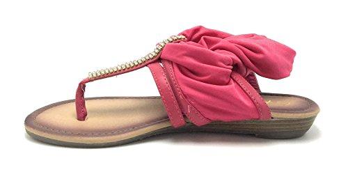 Sandalo Donna Gladiatore Romano Con Cinturino Alla Caviglia Sandalo Infradito Scarpe Infradito Fucsia