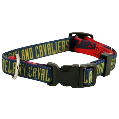 "Hunter Cleveland Cavaliers Adjustable Pet Collar, 5/8"" Wide Small"