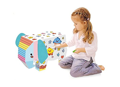 DIY Doodle (Cardboard Coloring Elephant) Cardboard Coloring Playhouse, 3D Coloring Model for Kids for $<!--$7.99-->