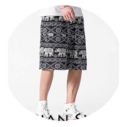 Yeenvan Mens Colorful Shorts Cotton 2019 Summer Hip Hop Casual Shorts Plus Size,K3517(Asian Size),XXXL