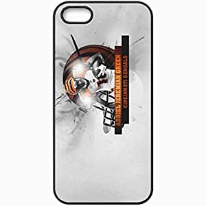 Personalized iPhone 5 5S Cell phone Case/Cover Skin 14388 bengals wp 6 sm Black