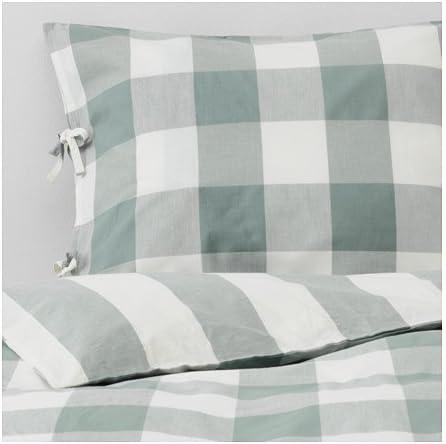 Ikea Emmie Ruta Juego de ropa de cama en color verde; 100% algodón ...