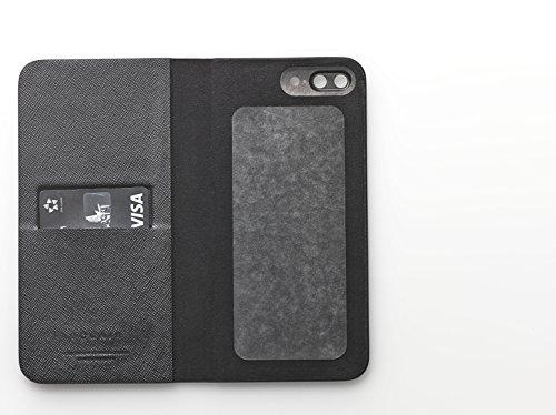 [iPhone 7 Plus Case], SQUAIR - Calf Leather Case for iPhone7 Plus - Book Type (Black) (Black) by SQUAIR (Image #6)