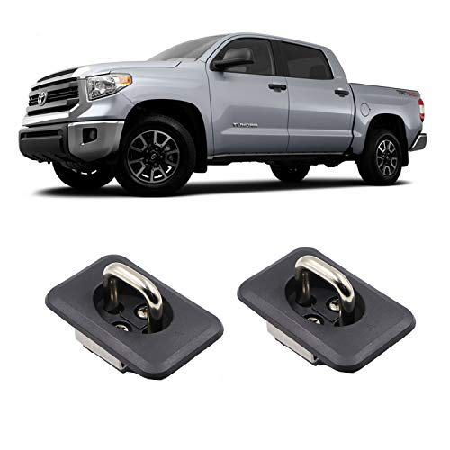 AEagle Tie Down Anchors Retractable Truck Bed Side Wall D Ring for 2000-2013 Toyota Tundra Pop Out Rail Cap Covers 2 Pcs