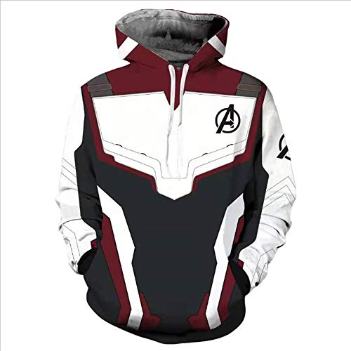 (Adult Avenger's Endgame Quantum Realm Hoodie Jacket Costume Cosplay Costume Zipper Pullover Shirts Sweatshirt. (1:Pull on,)