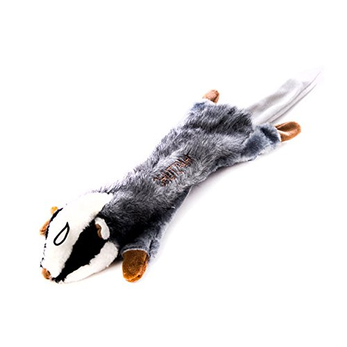 Copa Judaica Chewish Treat Chutzpah The Badger Squeaker Plush Dog Toy, 22.5 by 7-Inch, Multicolor ()