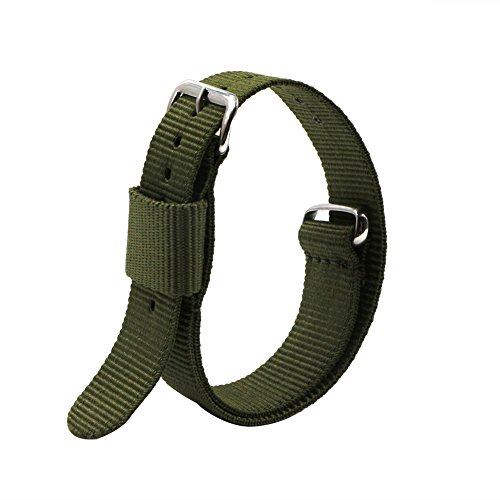4pc 20mm Nato Ss Nylon Replacement Watch Strap Band by Ritche (Image #2)