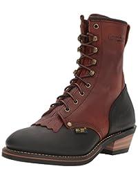 """AdTec Men's 1179 9"""" Packer Work Boot, Chestnut/Black"""
