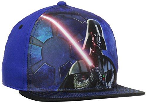 concept-one-boys-star-wars-vader-trooper-flat-brim-basebal-one-size-hat-blue