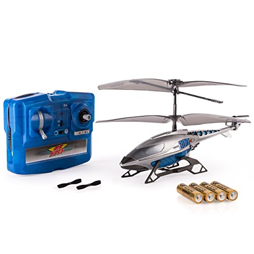 Air Hogs, Axis 300x RC Helicopter With Batteries - Silver & - Air Helicopter Hogs