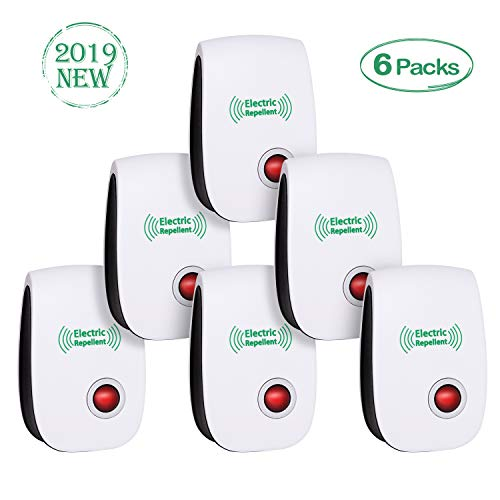 Rodent Plug In Repeller Electronic (2019 Newest Ultrasonic Electronic Pest Repellent, Pest Repeller Plug in Indoor Usage, Best Pest Controller to Bugs, Insects Mice, Ants, Mosquitoes, Spiders, Rodents and Roach(6 Packs))