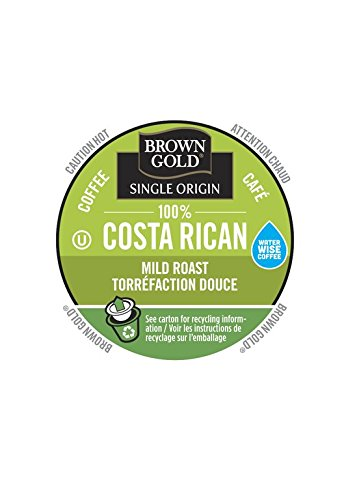 Brown Gold, 100% Costa Rican Coffee, 48 Single Serve RealCups