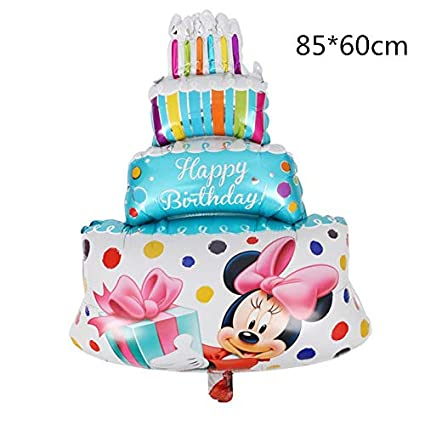 Amazon 1 Piece 1pc Happy Birthday Cake Foil Balloon Minnie