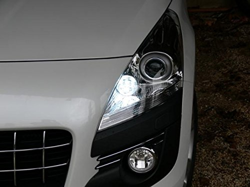 Pack de faros de led, color blanco xenón para Peugeot: Amazon.es: Coche y moto