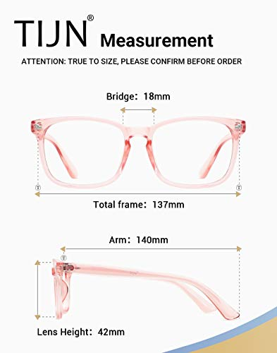 7d524aa2489 Amazon.com  TIJN Blue Light Blocking Glasses Square Nerd Eyeglasses Frame  Anti Blue Ray Computer Game Glasses  Clothing