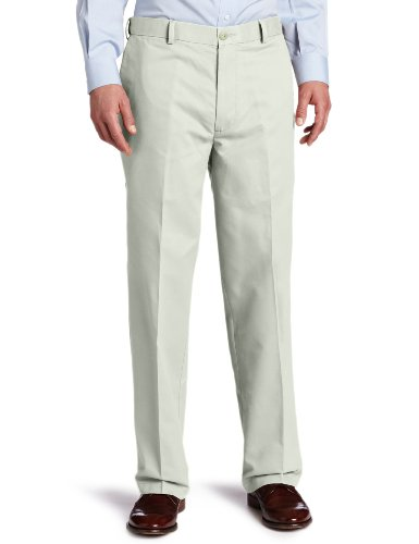 Dockers Men's Comfort Khaki Relaxed-Fit Flat-Front Pant, Stone - discontinued, 40W x 30L -