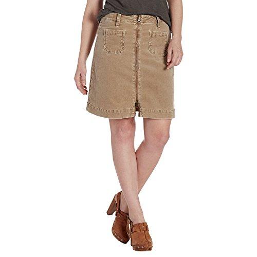 Jag Jeans Women's McCamey Zip Front Skirt, Toffee Corduroy, 6 - Jag Jeans Corduroy Jeans