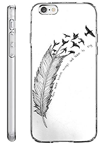 Hard Back Case Cover Shell for iPhone 6s 4.7 Inch (2014/2015) Take Those Broken Wings and Learn to (Wing Phone Covers)