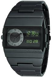 Vestal Men's MMC038 Metal Monte Carlo All Matte Black Analog-Digital Watch