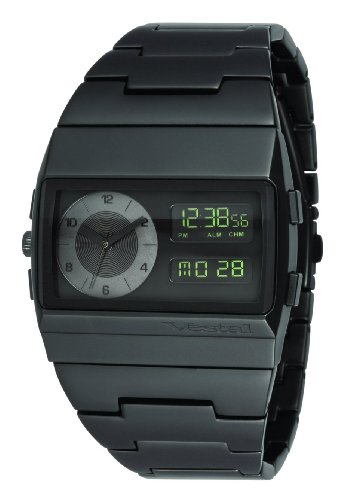 Vestal Men's MMC038 Metal Monte Carlo All Matte Black Analog-Digital Watch