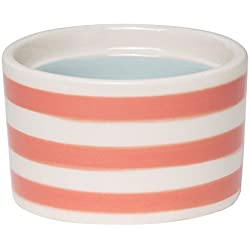 "C.R. Gibson ""G Monogram Pink Striped and Blue Interior Small Ceramic Trinket and Jewelry Box, 2.5"" W x 2"" H x 2.5"" D"