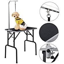 K&A Company Pet Dog Cat Grooming Table Top Foam Arm Noose W Mat Adjustable Rubber With Arm & Noose - 32 Inches
