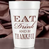 Thanksgiving Cups - 16 oz Foam - Set of 60