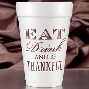 Thanksgiving Cups - 16 oz Foam - Set of 60