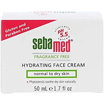 Sebamed Fragrance Free Hydrating Face Cream Moisturizer for Normal to Dry Skin 1.69 Fluid Ounces (50 Milliliters)