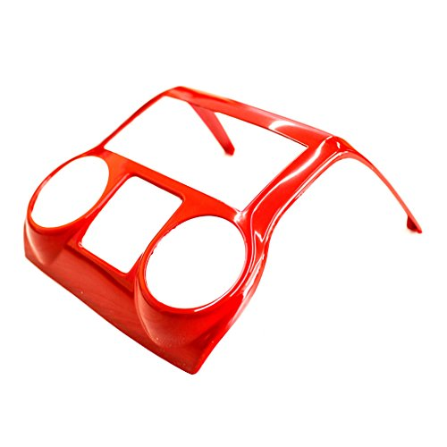 Red Center Console Cover Trim Accents for Jeep Wrangler JK JKU Unlimited Rubicon Sahara X Off Road Sport Interior Accessories Parts 2007 2008 2009 2010 2011 2012 2013 2014 2015 2016 2017 - 1pc
