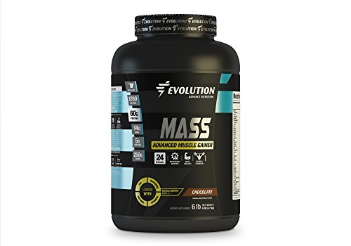 Gainer Creatine Weight (Muscle Gainer Protein Mass Advanced by Evolution Advance. 1280 Cal, 60gr of Protein, 250gr of Carbs, 14gr of BCAA, 5gr of Creatine+Glutamine+CLA+Enzyme Blend+Vitamins. (6 pounds, Chocolate))