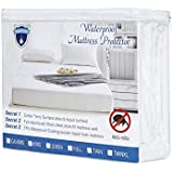 Alanzimo Premium Mattress Protectors,Full Size Waterproof Mattress Protector,100% Cotton Terry Surface,Hypoallergenic,Breathable,Dust Mite Resistant,15 Years Guarantee