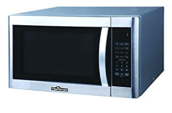 Perfect 1100W Microwave Oven With Black Cabinet, Stainless Steel