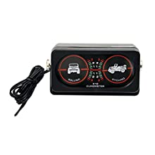 Rugged Ridge 13309.02 Roll/Pitch Indicator Clinometer with Light