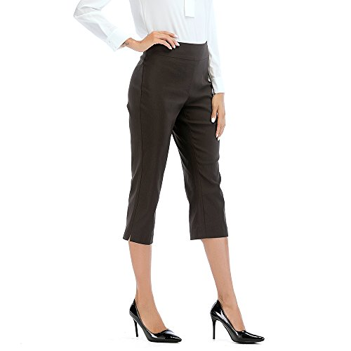 Tracy Evans Womens Ease in to Comfort Straight Leg Boot Cut Skinny Trousers Capri Pants with Tummy Control - Leg Trouser Wide Twill