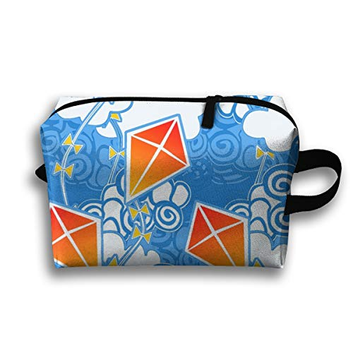 Makeup Cosmetic Bag Go Fly A Kite Bright Sky_101841 Medicine Bag Zip Travel Portable Storage Pouch For Adult 10