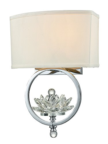 Dale Tiffany GW15313 Noble Crystal Wall Sconce Polished Chrome ()