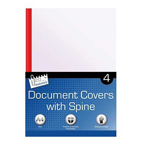 Just Stationery A4 Clear Document Covers and Spines - Binding Combs Assorted