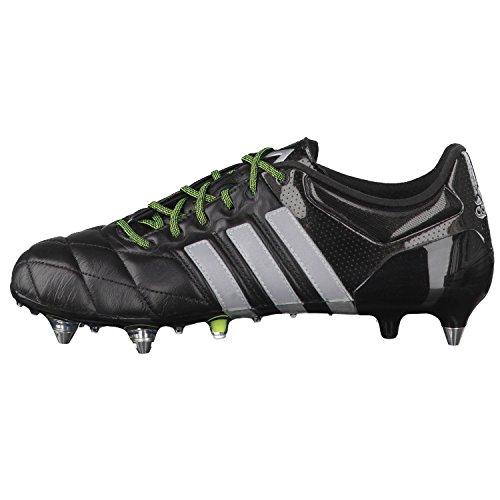 Adidas ACE 15.1 SG Leather Schwarz / Silber / Lima