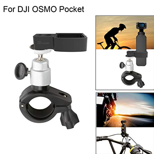 (Christmas Best Accory for DJI OSMO Pocket!!!Kacowpper Bicycle Mount Clamp Holder Bracket Stand for DJI OSMO Pocket Handheld Gimble Cam)