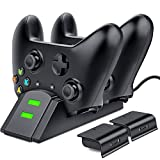 Xbox One Controller Charger, ESYWEN Dual Xbox Controller Charging Station with 2X 800mAh Rechargeable Battery Packs for Xbox One/One S/One X/Xbox Elite Controller