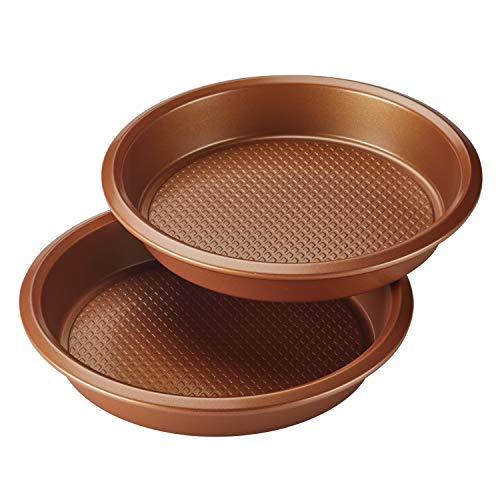 Ayesha Curry 47722 Nonstick Bakeware Nonstick Baking Pan Set / Nonstick Cake Pan Set, Round - 2 Piece, Brown