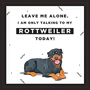 Gifts for Rottweiler Lover | 7x7 Tile Artwork | Quotes Decor for Dog Owners | Unique Art Print of Rottweilers | Present for Dog Lovers | Decorative Gift for Home | Perfect for Men & Women 1