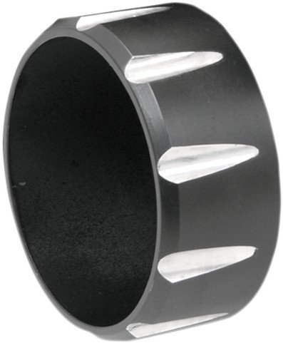 BASSANI XHAUST Fluted Billet End Caps for 3in. Firepower Slip-Ons Black BE30T-2 ()