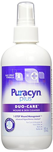 Puracyn Plus Wound and Skin Cleanser - Wound Care Spray for cuts, scrapes, minor sores, minor burns, and other skin irritations - 8-ounce