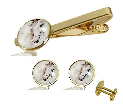 FQJNS Custom Photo Personalized Cuff Links Tie Clip Set Cufflinks Accessories Man Wedding Jewelry Gift - Personalized Photo Tie