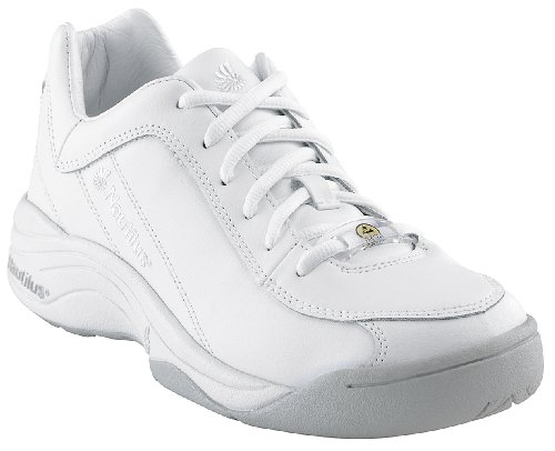 Nautilus Women's Soft Toe ESD Sneakers,White,5 ()